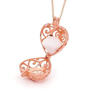 Perfumed Jewelry Passion Rose Gold heart pendant