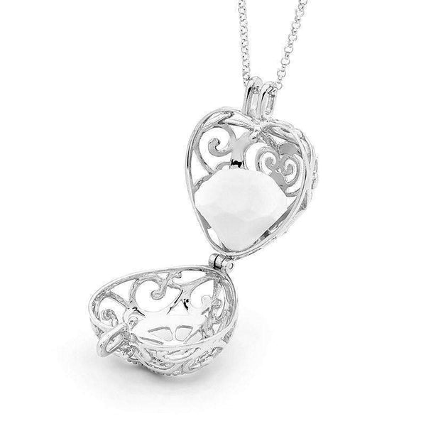 Silver heart pendant, Passion Perfumed Jewelry