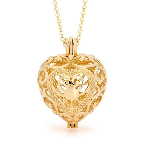 Passion Gold Heart Necklace - Perfumed Jewelry
