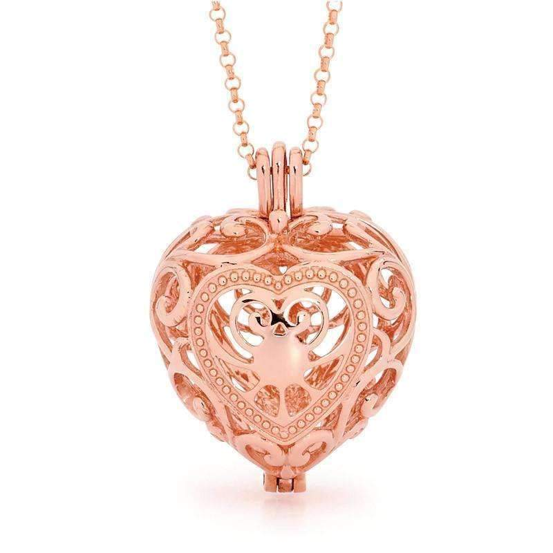Load image into Gallery viewer, Perfumed Jewelry Passion Rose Gold heart pendant