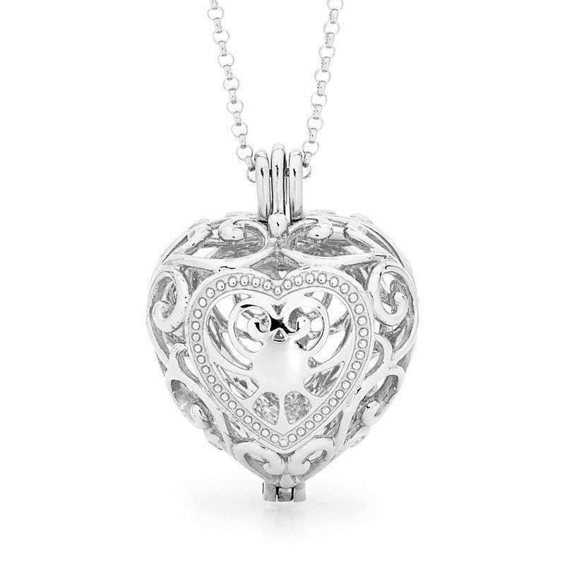 Silver heart pendant passion perfumed jewelry aloadofball Gallery