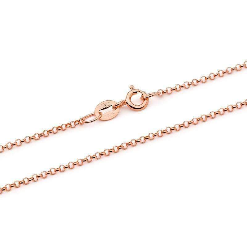 Solid Rose Gold pendant necklace