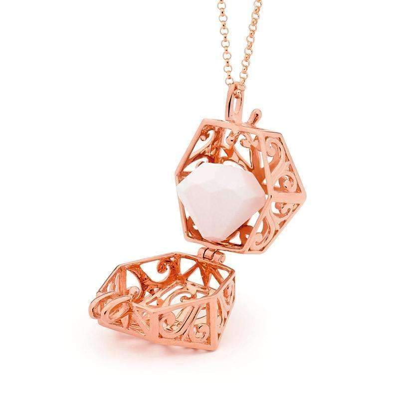 Load image into Gallery viewer, Solid Rose Gold pendant necklace