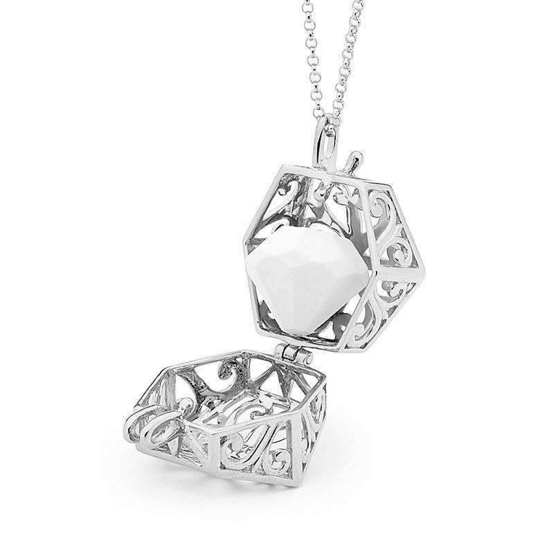 Load image into Gallery viewer, Silver Necklace, Eternity Perfumed Jewelry