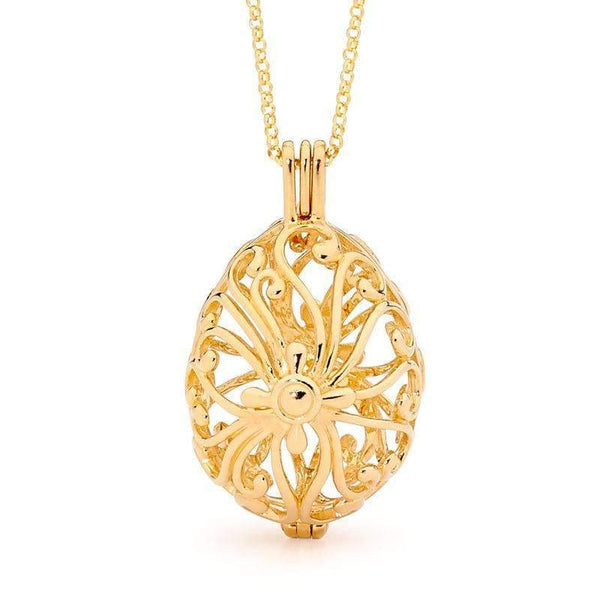 Perfumed Jewelry Tranquility Gold Pendant