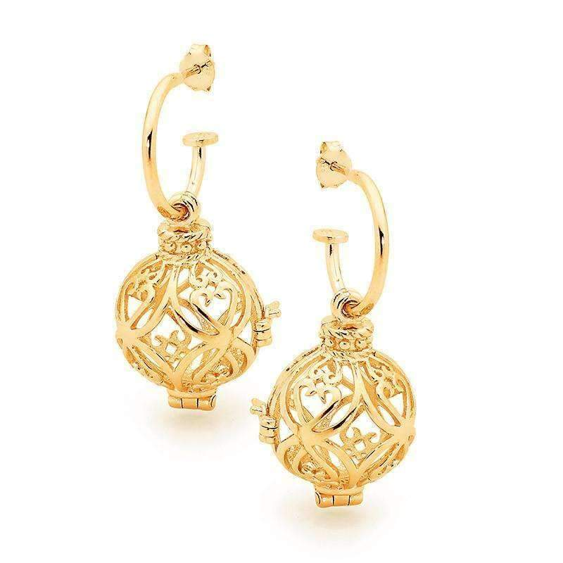 Gold Prosperity Perfumed Earrings