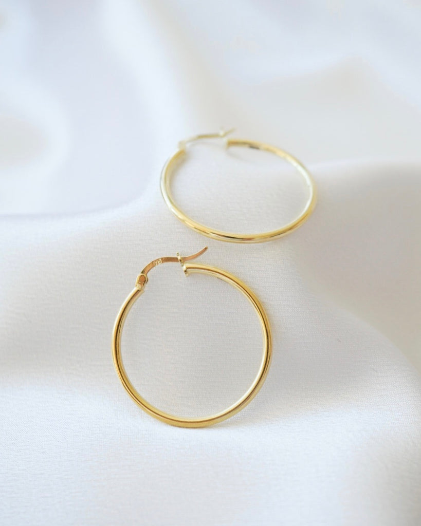 Minimalist Gold Hoops