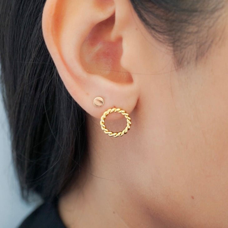 Small Twisted Circle Earrings