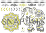 Mini Elephant Silver & Gold (1 Sheet)