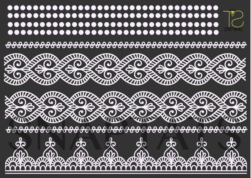 Mini Henna White (5 Sheets)