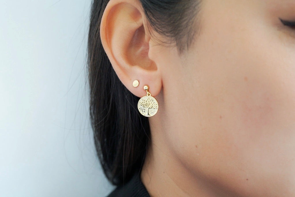 Tree Coin Earrings