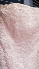 Vintage Victor Costa Strapless Lace Dress