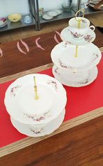 Vintage Floral Plate Cake Stand
