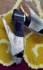 Silver Metallic Sergio Rossi Wedges