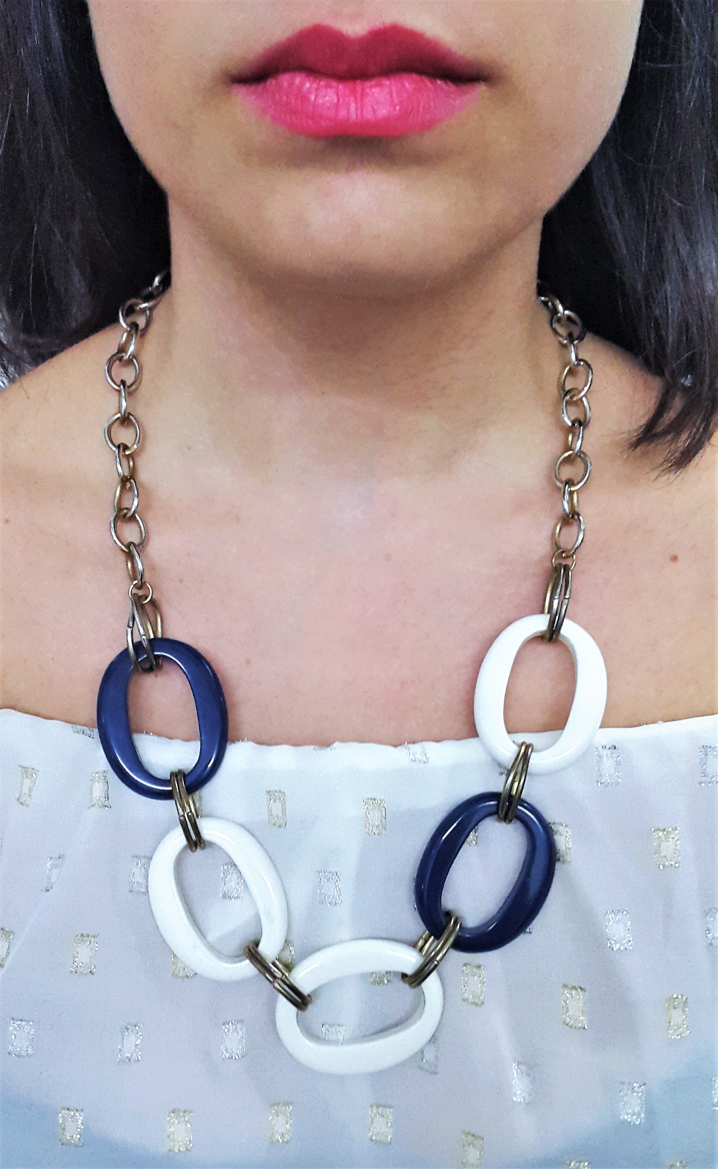 Retro Circle Chain Link Necklace