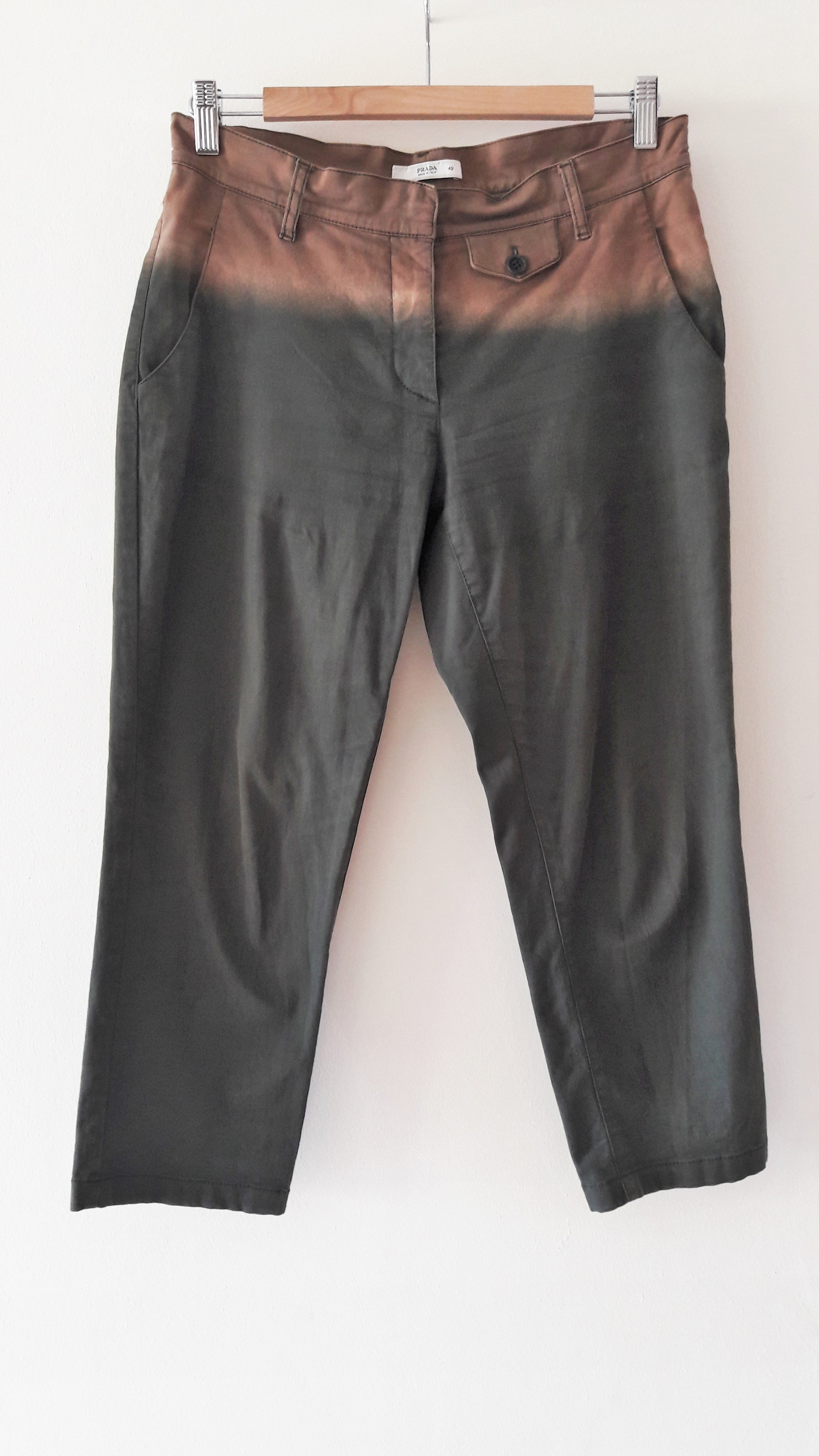Ombré Prada Cropped Chino Trousers