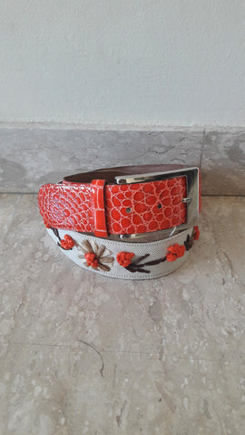 NWT Moschino Floral Trim Belt