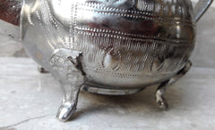 Vintage Pair of Silver Plated Teapots