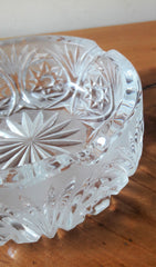 Vintage Round Cut Crystal Ashtray