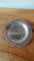 Vintage Cavalier Silver Plated Tray