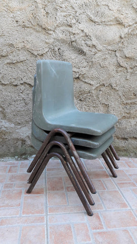 Vintage Stacking Toddler School Chairs (Steelux London)