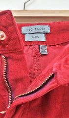 Deep Red Ted Baker Cargo Trousers