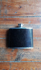 Vintage Black Lichfield Leather Drinking Flask