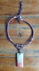 Purple Rope Pendant Choker Necklace