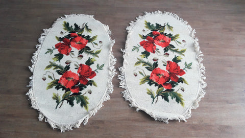 Beautiful Vintage Floral Romantic Tassle Carpets