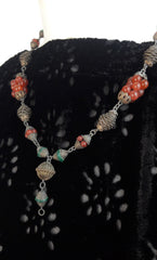 Ethnic Beaded Chain Necklace