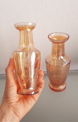 Vintage Carnival Glass Mini Vases