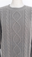 Vintage OuiSet Long Cable Knit Jumper