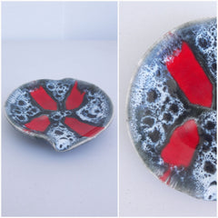 Vintage Lava Design Ceramic Dish/Ashtray