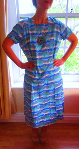 Vintage Watercolour Print Dress