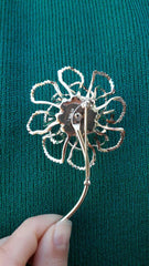 Vintage Flower Sparkle Brooch
