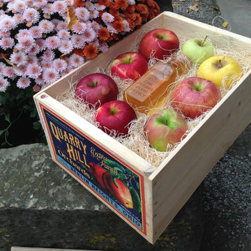 Seasonal Apples and Honey Gift Crate - OCT, NOV, DEC