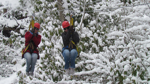 Winter Zip Line Trips at ACE Adventure Resort