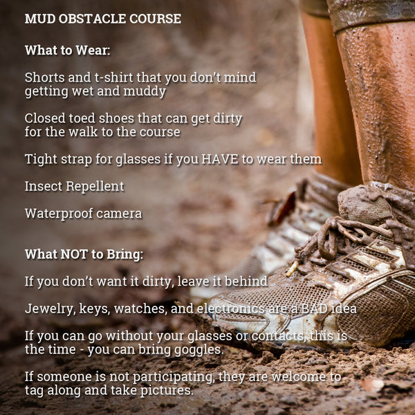 What to Wear on the Mud Obstacle Course