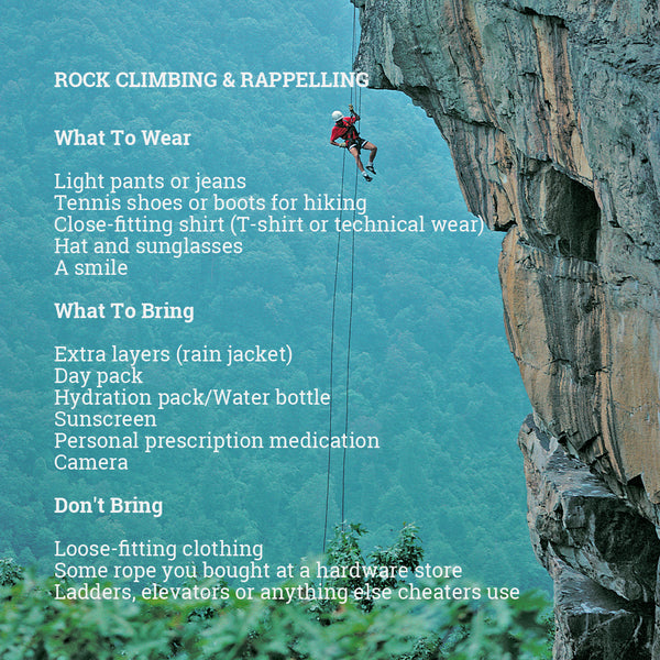 What to Wear Rock Climbing and Rappelling