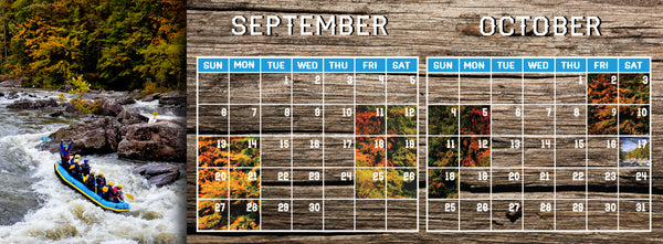 Gauley River Rafting Calendar 2015