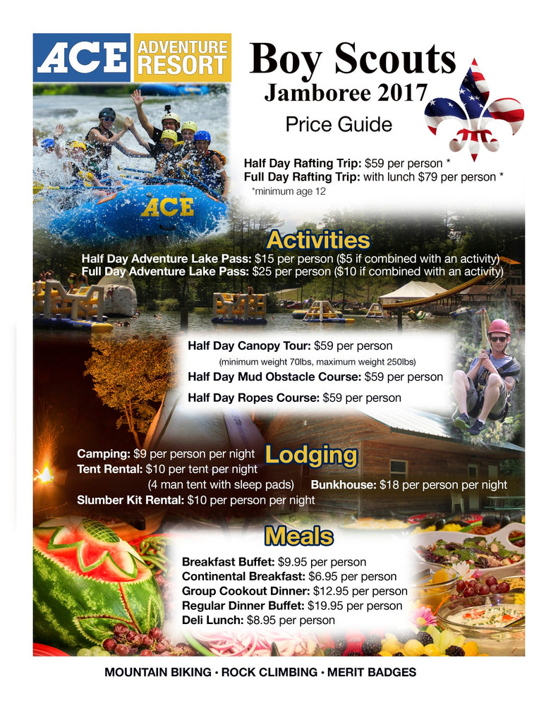 Boy Scout Jamboree 2017 Flyer