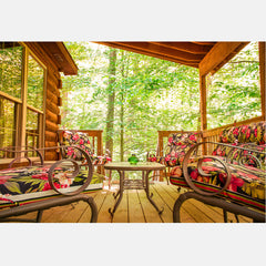 ACE Adventure Resort - Black Bear Log Home Porch