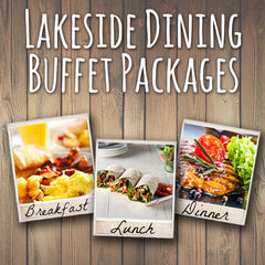 Lakeside Dining Breakfast, Lunch & Dinner Package