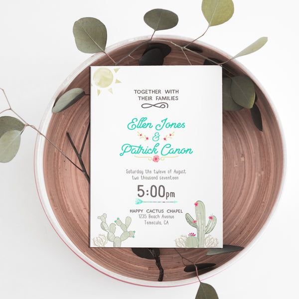 Cactus Wedding Invitation
