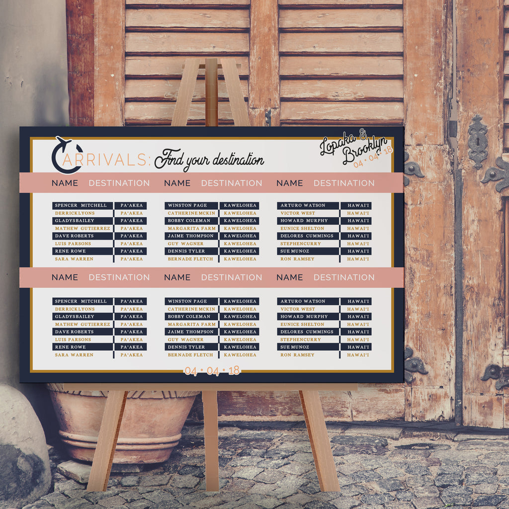 Destination Theme Seating Chart