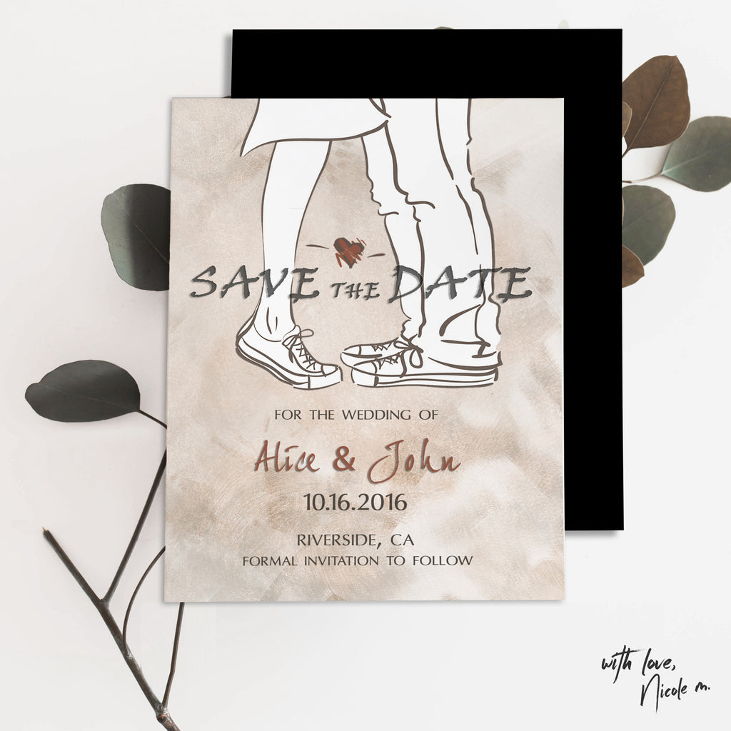 Kiss Me Save the Date Magnet