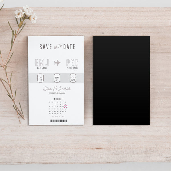 Mini Boarding Pass Save the Date Magnet