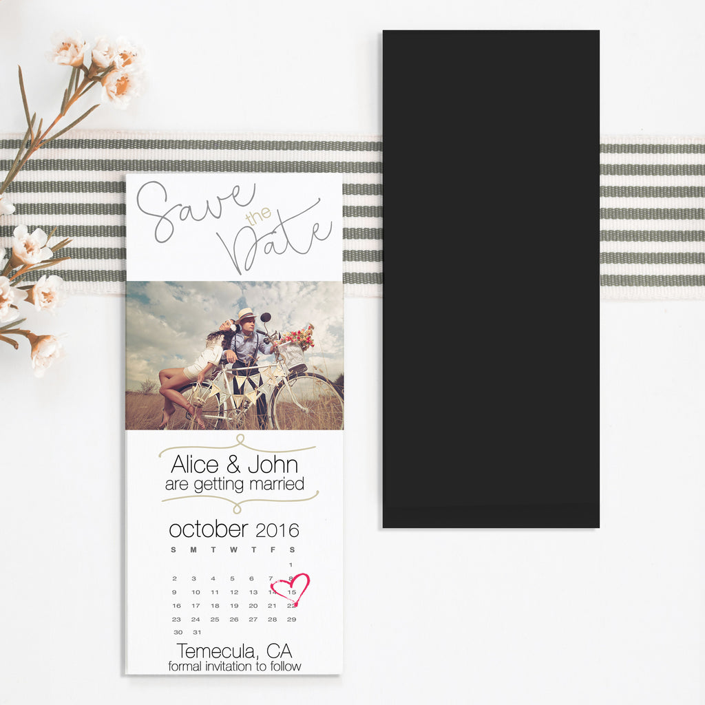 Ticket Size Save the Date Magnet