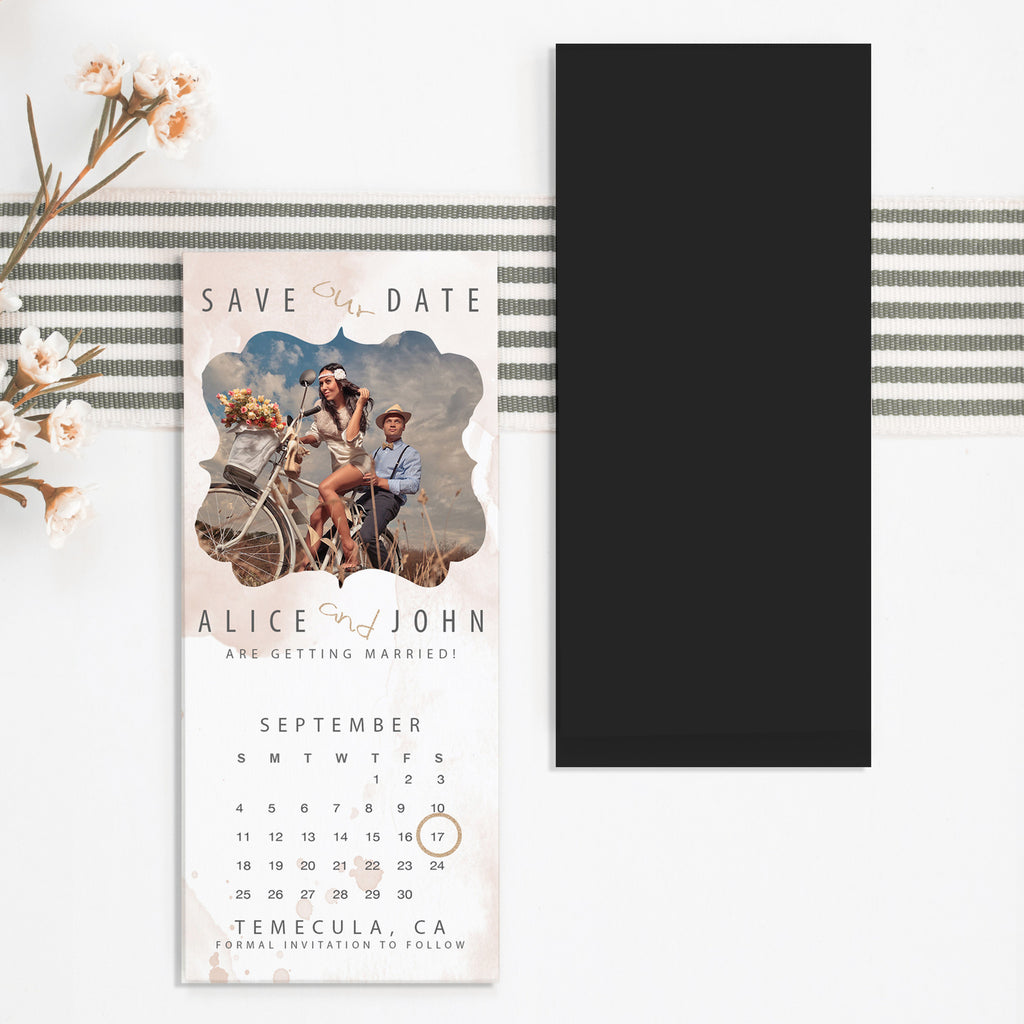 Watercolor Save the Date Magnet