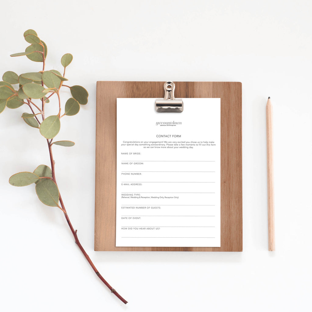 Downloadable Client Sheet Wedding Professional